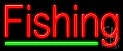 Fishing neon sign fish chips neon signs every thing neon for Fish neon sign