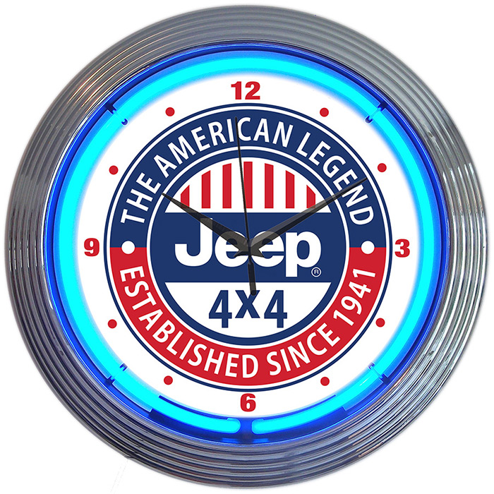 Jeep the American Legend Neon Clock
