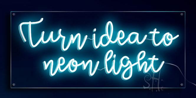 Neon Light Custom Sign
