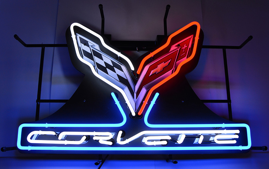 Gm Corvette C7 Stingray Neon Sign with Backing