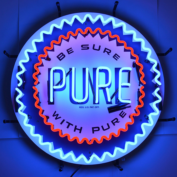 Pure Gasoline Neon Sign with Backing
