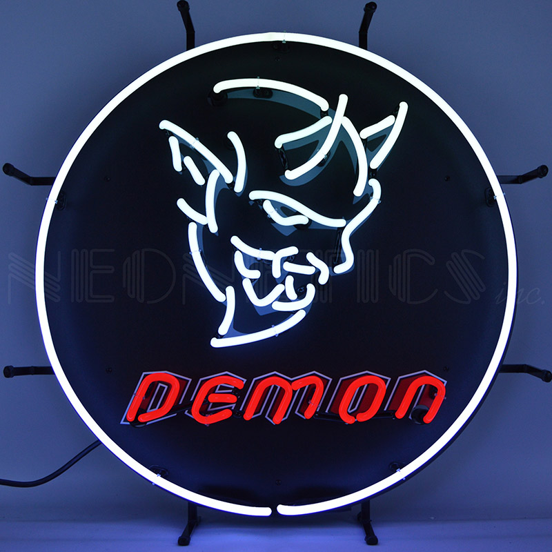 Dodge Demon Auto Neon Sign