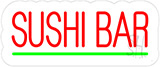 Red Sushi Bar Contoured Clear Backing LED Neon Sign
