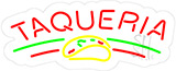 Taqueria Contoured Clear Backing Neon Sign