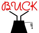 Custom Buck Sculpture Sign 1