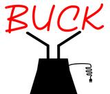 Custom Buck Sculpture Sign 3
