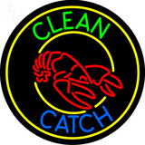Custom Clean And Catch Neon Sign 3