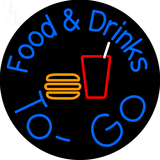 Custom Food And Drinks To Go Outdoor Neon Sign 2