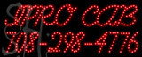 Custom Ipro Cab Phone Number Neon Sign 4