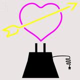 Custom Heart Sculpture Sign 2