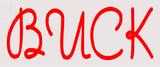 Custom Red Buck Neon Sign 1