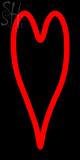 Custom Red Heart Neon Sign 1