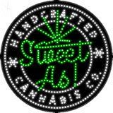 Custom Sweet As Handcrafted Cannabis Co Led Sign 7