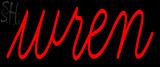 Custom Wren Neon Sign 1
