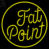 Yellow Fat Point Neon Sign