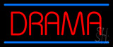 Red Drama Blue Lines Neon Sign