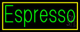 Green Espresso with Yellow Border Animated Neon Sign