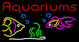 Red Aquariums Fish Logo Neon Sign