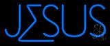 Blue Jesus Block LED Neon Sign