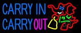 Carry In Carry Out With Elephant Neon Sign
