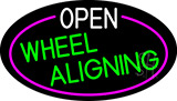 Open Wheel Aligning Oval With Pink Border Neon Sign