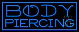 Blue Body Piercing LED Neon Sign