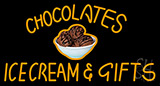 Chocolate Ice Cream And Gifts Neon Sign