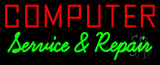 Computer Service And Repair Neon Sign