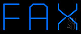 Blue Fax 1 Neon Sign
