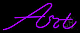 Purple Art Cursive Neon Sign