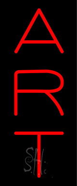 Vertical Red Art Neon Sign