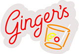 Gingers Contoured Clear Backing Neon Sign