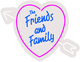 The Friends And Family Contoured Clear Backing Neon Sign