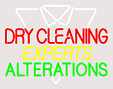 Dry Cleaning Experts Clear Backing Neon Sign