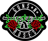 Guns N Roses Contoured Black Backing Neon Sign