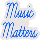 Music Matters Contoured Clear Backing Neon Sign