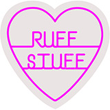 Ruff Stuff Contoured Clear Backing Neon Sign