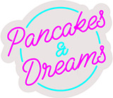 Pancakes Dreams Contoured Clear Backing Neon Sign