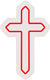 Christian Religion Symbol Contoured Clear Backing Neon Sign