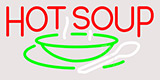 Hop Soup Clear Backing Neon Sign