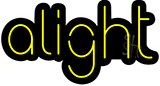 Alight Contoured Black Backing Neon Sign