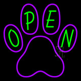 Open Pet Footprint Neon Sign