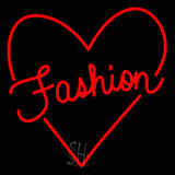Fashion With Heart Logo Neon Sign