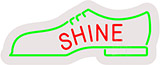 Shoes Shine Contoured Clear Backing Neon Sign