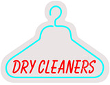Dry Cleaners Contoured Clear Backing Neon Sign