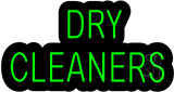 Dry Cleaners Contoured Black Backing Neon Sign