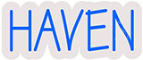Haven Contoured Clear Backing Neon Sign