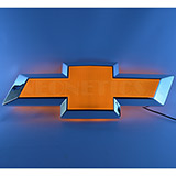 Chevy Bowtie Shaped Backlit Led Lighted Sign