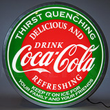 Coca-Cola Evergreen 15 Inch Backlit Led Lighted Sign