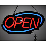 Open Flashing Oval Led Sign